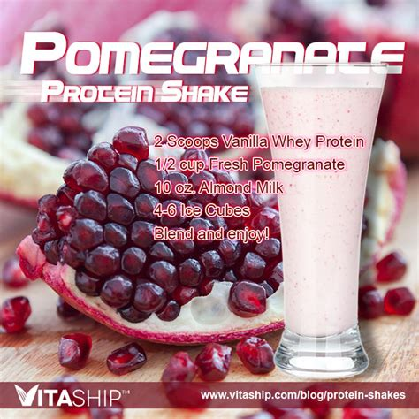 2 protein shakes a day cutting pomegranate protein shake