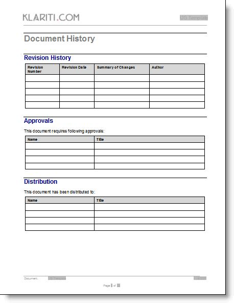 25 images of revision log template infovia net