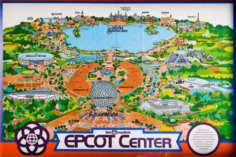 map of epcot 1982 epcot center fold out map picture taken on oct 1 200 flickr