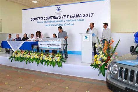 entregan premios del sorteo del predial 2016 puebla entregan premios del sorteo predial en san andr 233 s cholula