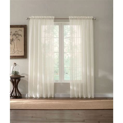 semi sheer curtains white home decorators collection sheer white semi sheer rod