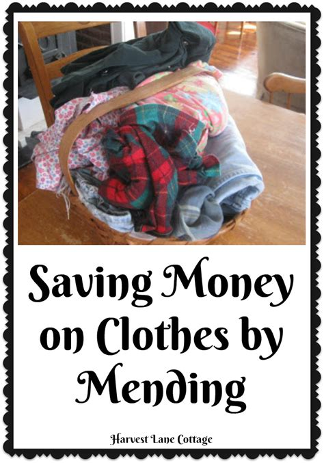 7 Tips On Saving Money On Clothes by Harvest Cottage Saving Money On Clothes By Mending