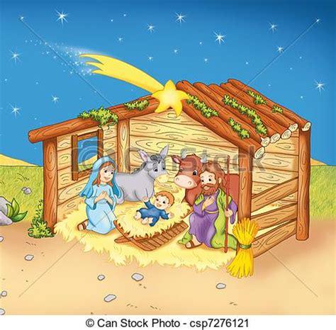 Clipart Nascita Bambino Nascita Jesus S Nascita Bambino Colorato Illustrazione