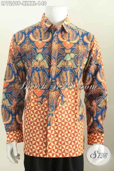 Dress Cocok Buat Ke Kantor kemeja batik pria dewasa baju batik lengan panjang halus