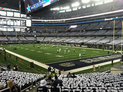 at section 101 at t stadium section 101 dallas cowboys rateyourseats com