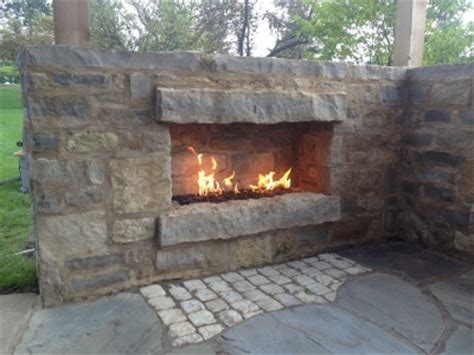 pictures of outdoor gas propane fireplaces with