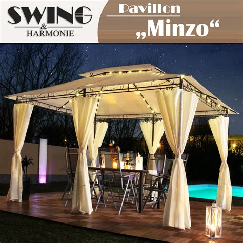 Pavillon 3x4m by Led Pavillon 3x4m Garten Pavilon Designer Pavillion