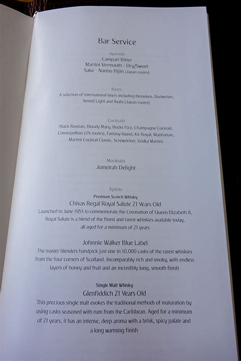emirates menu emirates a380 first class amsterdam to dubai bart la