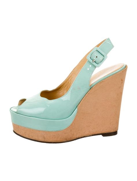 Sepatu Wedges Hermesoriginal 1 herm 232 s patent leather slingback wedges shoes her91496 the realreal