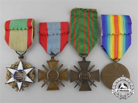 three french medals awards decorations