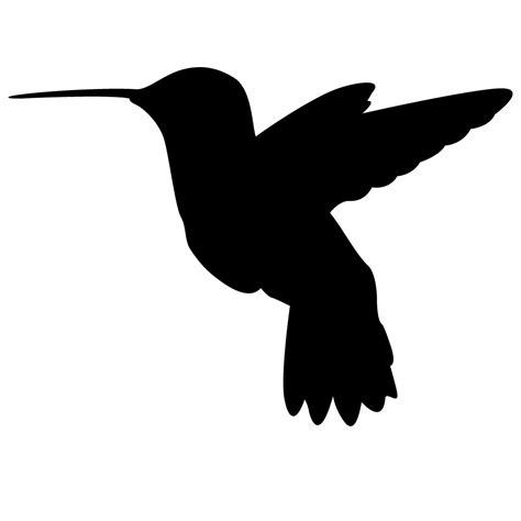 printable hummingbird stencils hummingbird silhouette stencils and tattoos pinterest