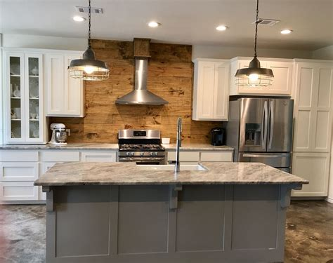 industrial farmhouse kitchen island creek by mitch ginn industrial farmhouse kitchen with gray painted island white