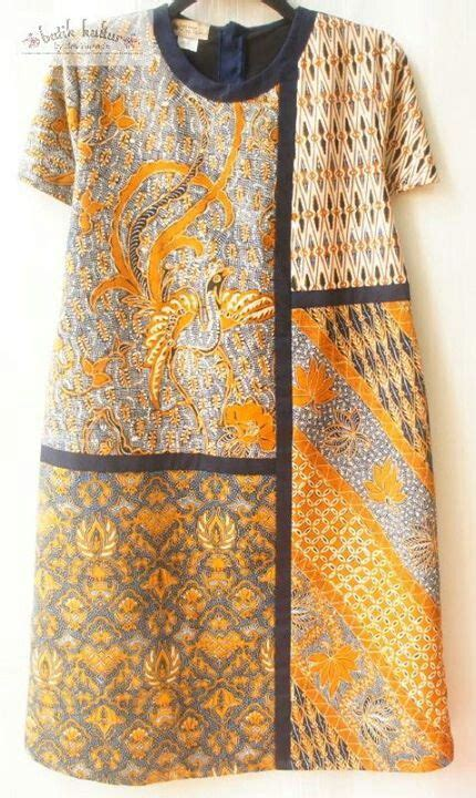 Dress Batik Sogan Motif reshaped puzzled dress sogan klambi batik