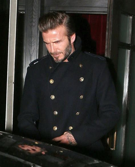 Beckham Launches Style Website david beckham serves up coat at his fashion line