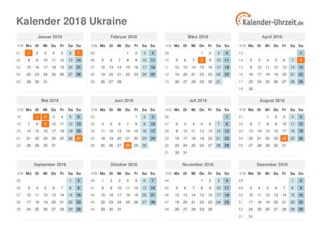 Calendar 2018 Ukraine Feiertage 2018 Ukraine Kalender 220 Bersicht