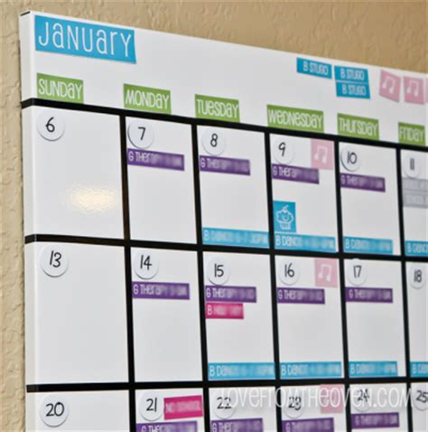 Calendar Board For Our Magnetic White Board Family Calendar With Free