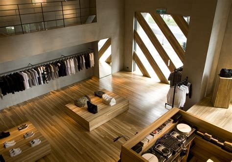retail interior design retail design showroom in wood