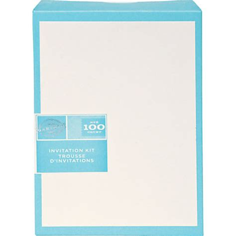 gartner studios invitations 5 12 x 8 12 ivory pack of 100