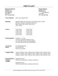 Sample Resume For Fresh Graduate Examples Of Resumes Resume Amazing Simple Objective