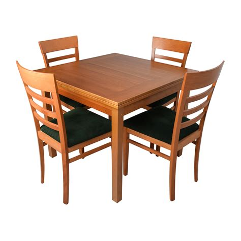 Jl Moller Dining Set Expandable Double Leaf Table With 8 Expandable Dining Room Table Sets