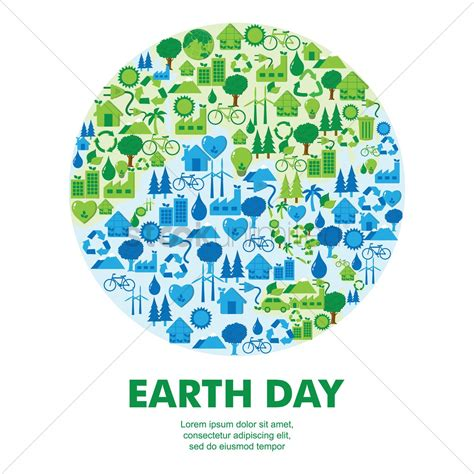 earth day earth day icon concepts vector image 1276707