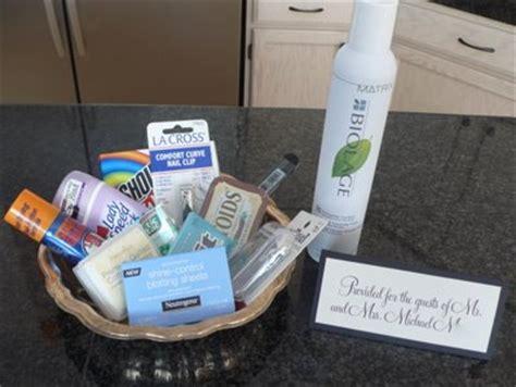 bathroom baskets for wedding guests guest provisions weddingbee