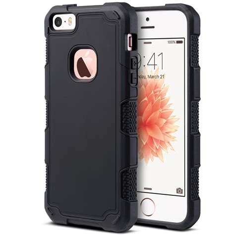 rugged iphone 5s cases for iphone 5 5s se hybrid rugged shockproof protective cover