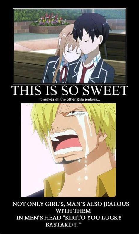 Meme Comics Online - funny kirito anime sanji envy kirito funny pictures