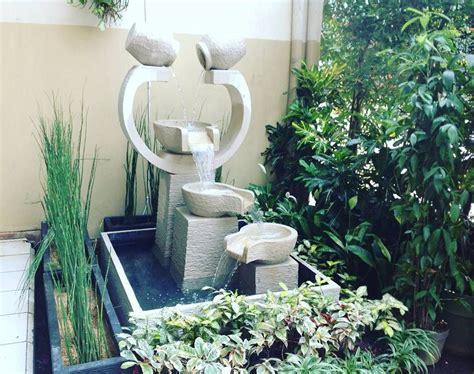 model taman kolam minimalis beserta air mancur taman minimalis   house garden