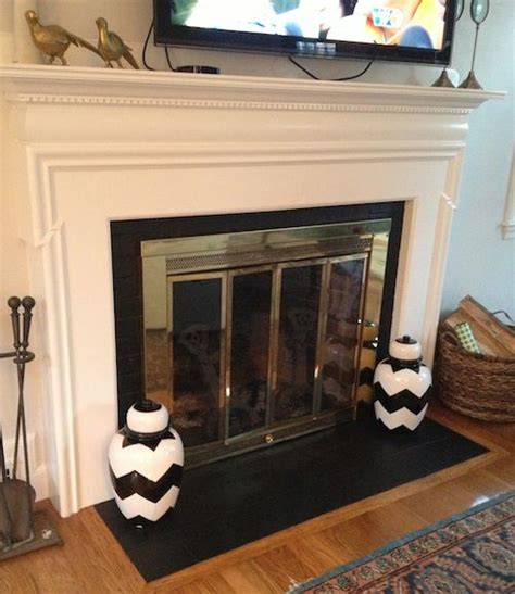 Painting Fireplace Tiles by Fireplace Hearth Facelift Paint Tile W