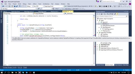 xamarin azure tutorial missing references azure blob xamarin forums