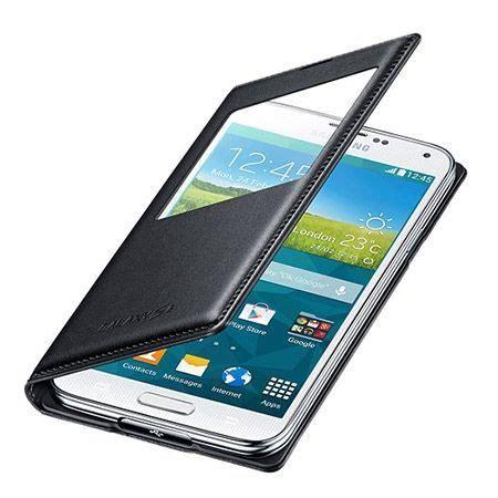 Cover Ume Eco Samsung J510 J5 2016 galaxy j5 2016 etui flip s view z klapką czarny 20828