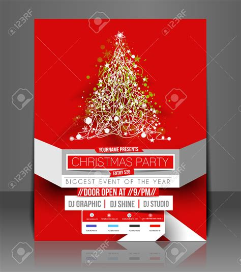 templates for holiday flyers 30 christmas flyer templates psd vector format