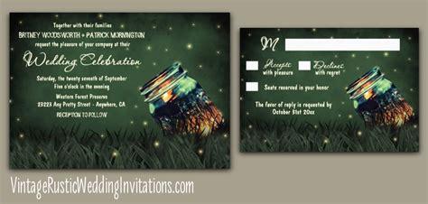 Wedding Invitations Jar by Firefly Wedding Invitations Vintage Rustic Wedding