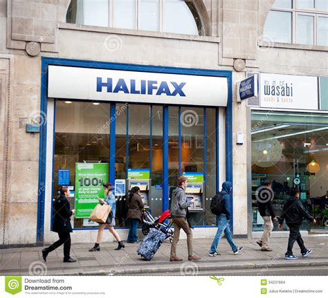 halifax bank in uk halifax bank branch in editorial stock image