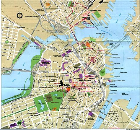 map boston where was the actual boston tea site