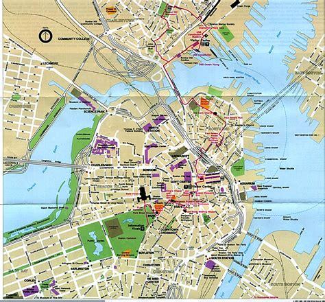 tourist map of boston usa tourist map of boston usa