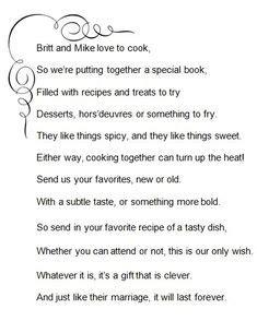 bridal shower recipe poem 1000 images about britt s bridal shower on