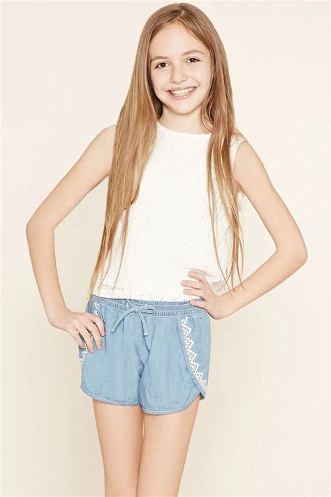 short shorts preteen girls denim tulip shorts kids f21kids forever21
