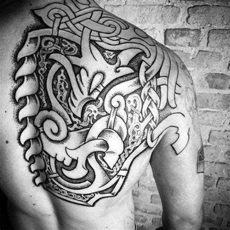 viking tattoo back designs collection of 25 dark viking cross back shoulder tattoo