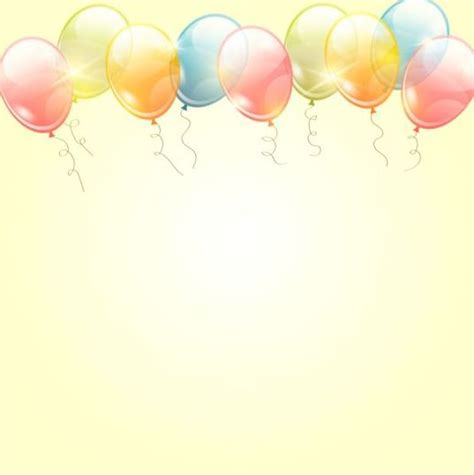 birthday background  colored transparent balloons