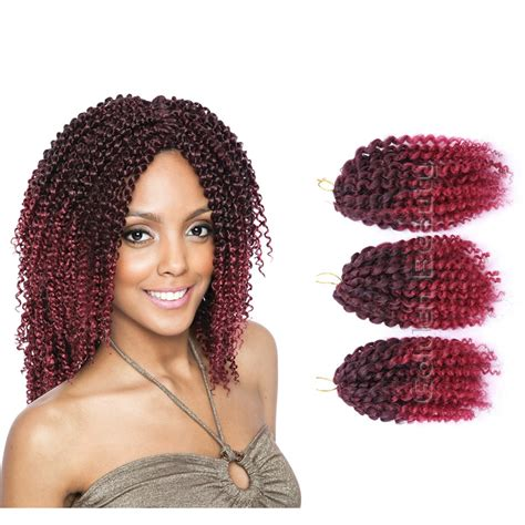 afro twist braid premium synthetic hairstyles for women over 50 3pcs set 8inch ombre synthetic braiding hair crochet