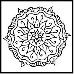 Mandala Design Coloring Pages mandalas coloring part 4
