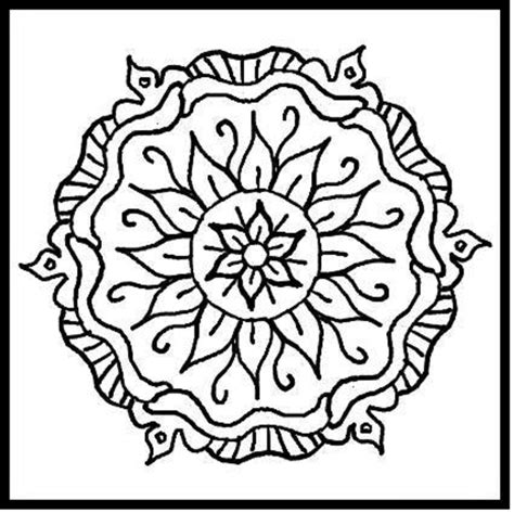 printable geometric design coloring pages az coloring pages