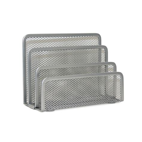 Mesh Mini Letter Sorter Silver Office Supplies Desk Mesh Desk Accessories