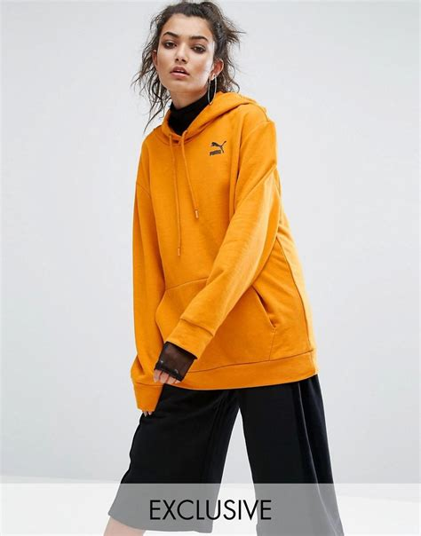 asos hoodie in yellow exclusive to asos statement oversized hoodie in