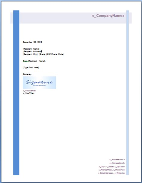 letterhead layout template search results for professional letterhead format