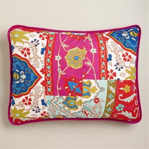 Patchwork Pillow Shams - istanbul patchwork pillow shams set of 2 world market