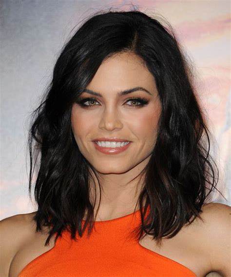 how to style dewan s hair jenna dewan medium wavy hairstyle black hairstyles