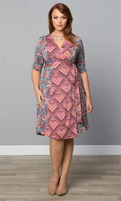 fashion pictures for short fat women over 50 plus size trendy dress in the mix wrap dress